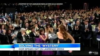 Jennifer Lawrence Dress Rip Not A Wardrobe Malfunction at SAG Awards  YouTube