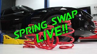 BMR Lowering Springs Installed LIVE on Facebook!!