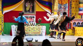 Tibetan Dance Performed - By Bhutanese friends in New York (Losar 2016 )
