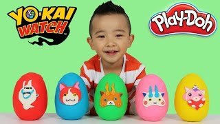 Yo-Kai Watch Toys Play-Doh Surprise Eggs Opening Fun With Ckn Toys  huevos sorpresa