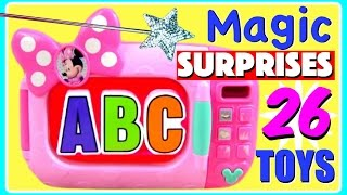 Learn ABC Alphabet With 26 Magical Microwave Surprise Toys! Turn ABC Alphabet Letters Into TOY SURPR