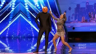 America's Got Talent 2017 The Dancing Pumpkin Man Just the Intro and Judges' Comments S12E03