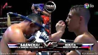 【Thai Fight】Saenchai VS Nikita Surovezhkin 2018-8-25