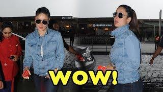 Kareena Kapoor Khan Looks Her Casual Best At Mumbai Airport