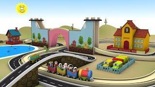 Toy Train for children - Train for kids - cartoon for kids - Toy Factory cartoon - Train