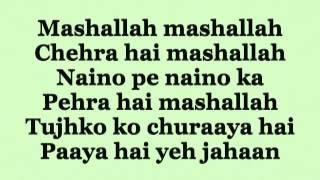 Ek Tha Tiger - Mashallah Lyrics HD  720p