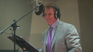 Mr. McMahon's Camp WWE voiceover sessions, only on WWE Network
