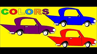 Colours Cars for Kids to Learn - Learn Colors with Car Painting