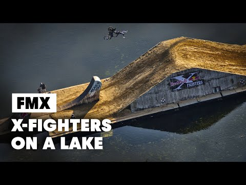 First ever FLOATING freestyle motocross course Red Bull X Fighters Munich 2014