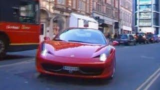 Justin Bieber drives TOO FAST in his Ferrari [HD]