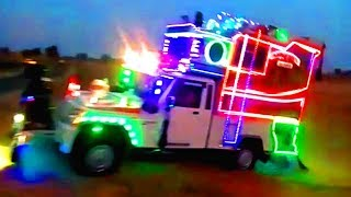 न्यू चौधरी 5D DJ साऊंड़ काली डूंगरी   Dj Pickup Lighting Video   Dj Dance Video   Dj Stunts  