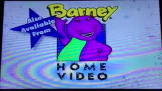 Opening & Closing To Barney Safety 1995 VHS (Canadian Copy)
