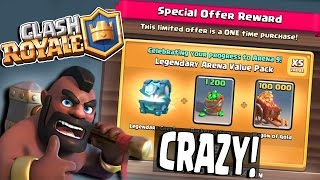 Clash Royale | CRAZY SPECIAL OFFER!! BASICALLY FREE LEGENDARY CHEST & 100k Gold!!