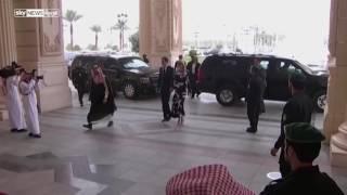 لحظة وصول إيفانكا ترامب برفقة زوجها إلى الرياض