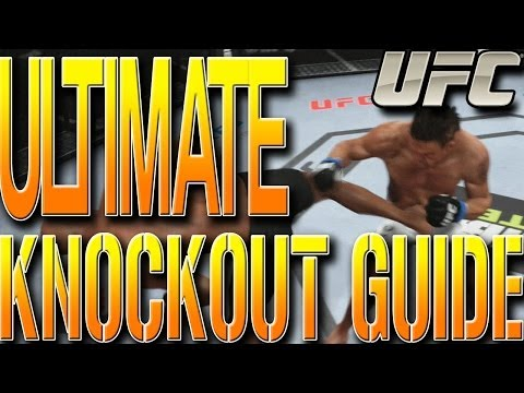 EA Sports UFC TIPS: ULTIMATE KNOCKOUT GUIDE! EASY KNOCKOUTS STANDING UP TUTORIAL