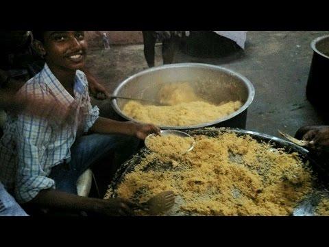 Indian Muslim CHICKEN BIRYANI Prepared for 200 People