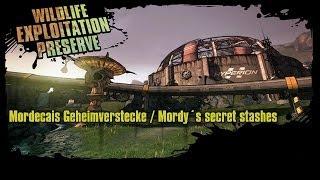 Borderlands 2 - Wildlife Exploitation Preserve - Mordecais Geheimverstecke / Mordy´s secret stashes