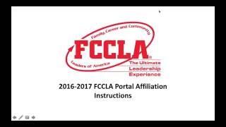 2016-2017 FCCLA Affiliation Tutorial Video
