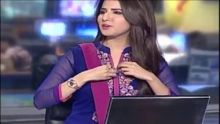 Camera Scene of Beautiful Pakistani Anchor.