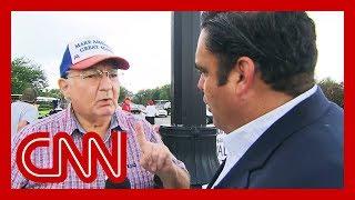 Trump voter's false claim surprises CNN reporter