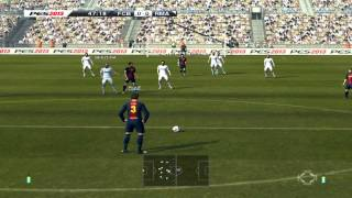 PES 2013 - Barcelona VS Real Madrid - Live Commentary w/e Awesome Pique Goal in 2nd Half
