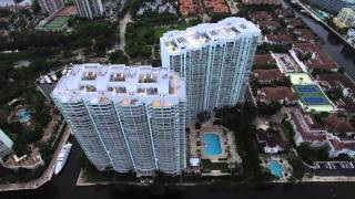 DJI POI Point of Interest Demo in 4k around 2 Buildings