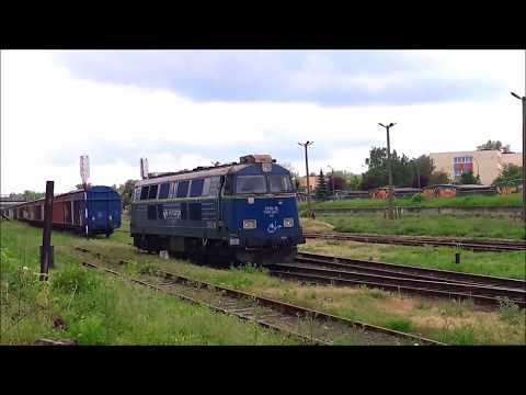 ST45-18 manewruje na stacji w Mielcu - Mielec, 24 maja 2017