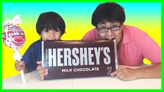 GIANT HERSHEY CHOCOLATE BAR with GIANT LOLLIPOP Eggs Surprise Toys Disney Cars Minions Shopkins