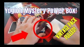 Yugioh - Mystery Power Box - VINTAGE PACK PULLED!!!
