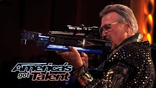 Bob Markworth: 77-Year-Old Archer Shoots His Assistant's Clothes Off - America's Got Talent 2014