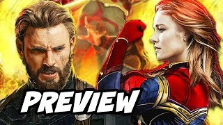 Avengers Infinity War Captain America Preview and Captain Marvel Trailer Theory