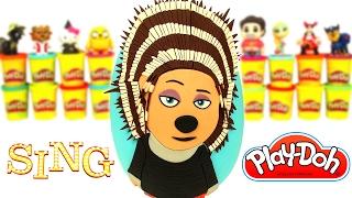 Huevo Sorpresa Gigante Ash de la película Sing ¡Ven y Canta! en Español de Plastilina Play Doh