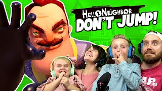 Try not to JUMP! Hello Neighbor NOOB Family Challenge | KIDCITY GAMING