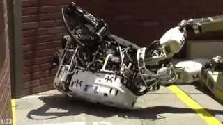 A Compilation of Robots Falling Down at the DARPA Robotics Challenge
