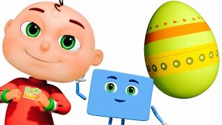 Five Little Babies Opening Surprise Eggs | Learn Shapes For Children | Zool Babies Fun Songs