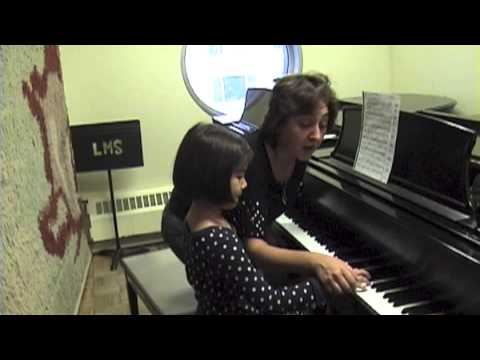 Piano Lesson with a 6-year old student, Irina Morozova, Teacher