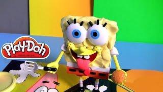 Massinhas Play-Doh Bob Esponja Calça Quadrada TOYSBR em Portugues BR