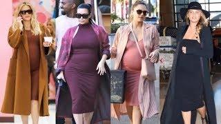 فستان مريح جدا لفنانات هوليوود اثناء فترة الحمل