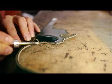 [Arte di mano] The handwork of JnK - #2 Leica Q half case making movie with Shell cordovan.