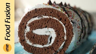 Chocolate Swiss Roll Recipe By Food Fusion
