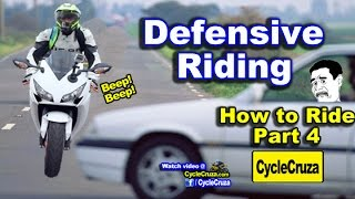 How to Ride a Motorcycle - Part 4   Defensive Riding (Prevent Accidents)