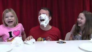 Pie Face challenge game! | Time For Toys | Babyteeth4