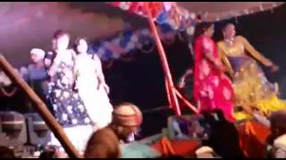 Bhojpuri saraswati puja pramod premi dance bihar 2017