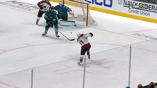 Martin Jones Pushes Across For Glove Save In 2nd
