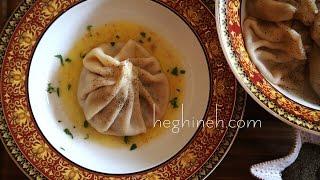 Meat Dumplings Recipe - Khinkali Recipe Хинкали - Heghineh Cooking Show