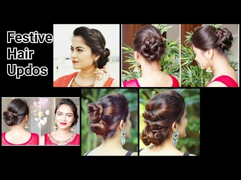 Xxx Mp4 2 Quick Easy Indian Bun Hairstyles For Saree Anarkali Lehnga Party Hairstyles For Medium Long Hair 3gp Sex