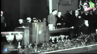 جمال عبد الناصر في فيديو نادر يكرم ماري منيب