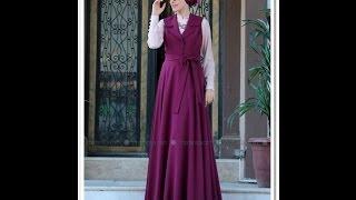 2017 Tesettür Jile Elbise Modelleri