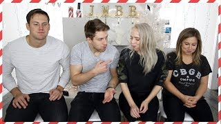 Try Not To Laugh Challenge w Shawn Johnson & Andrew East - Vlogmas Day 9
