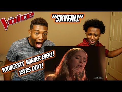 """Youngest 'The Voice' Winner Brynn Cartelli Sings""""Skyfall"""" (REACTION) (15 YEARS OLD!)"""